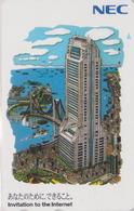 TC Japon / 110-209796 - NEC Série Peinture - Bateau & Tour ** Invitation To The Internet - Japan Painting Phonecard - 19 - Boats