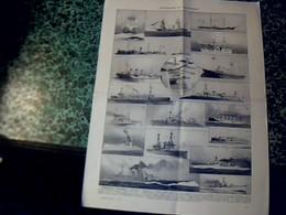 """Vieux Papier Marine Militaire Planche Larousse """" Croiseurs & Cuirassiers"""" Année ? - Planes Técnicos"""