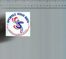 REF 6  : Autocollant Publicitaire Sticker Sportez Vous Bien - Autocollants
