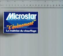 REF 6  : Autocollant Publicitaire Sticker Microstar Maitrise Du Chauffage - Autocollants