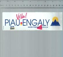 REF 6  : Autocollant Publicitaire Sticker Piau Engaly Hautes Pyrénées  3615 - Autocollants