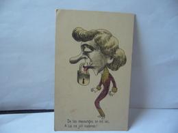 FANTAISIE CARICATURE DE TES MENSONGE ON EST LAS A TOI CE JOLI CADENAS CPA 1913 - Sin Clasificación