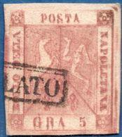 Naples, Italy, 1858, 5 Gr Rose - 2005.0706 - Naples