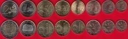 Andorra Euro Set (8 Coins): 1 Cent - 2 Euro 2014-2017 UNC - Andorra