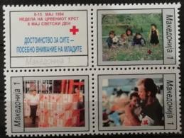 Macédoine 1994 / Yvert Croix Rouge N°33-36 / ** - Mazedonien