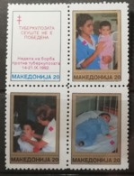 Macédoine 1992 / Yvert Croix Rouge N°8A-8D / ** - Mazedonien