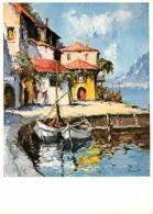 Art - Peinture - Jurgen Runge - Limone Sur Lac De Garde - Carte Neuve - CPM - Voir Scans Recto-Verso - Malerei & Gemälde