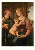 Art - Peinture Religieuse - Raffaello Sanzio Dit Raphael - Madonna Mit Dem Bartlosen Joseph - Carte Neuve - CPM - Voir S - Tableaux, Vitraux Et Statues