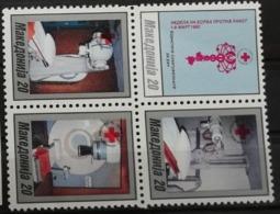 Macédoine 1993 / Yvert Croix Rouge N°28A-28D / ** - Mazedonien