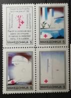 Macédoine 1993 / Yvert Croix Rouge N°21-24 / ** - Mazedonien