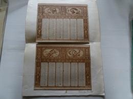 ANCIEN CALENDRIER ANNEE 1893 Dugrenot 50 Champs-Elysées  Paris TBE 23 X 19.5 Cm X 2 - Calendari