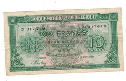 Belgium , 10 Fr./2 Belgas, 1943, VF+/XF - [ 2] 1831-... : Koninkrijk België