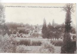 MAUVES Sur HUISNE: Vue D'ensemble & Ponts Construits Par La Maréchal Catinat - édit. Chouanard - Francia