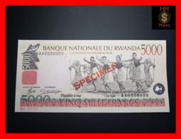 RWANDA 5.000 5000 Francs 1.12.1998  P. 28 A S SPECIMEN  UNC - Rwanda