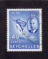 Seychelles 1952   40c    SG165    Used - Seychelles (...-1976)