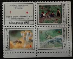 Macédoine 1993 / Yvert Croix Rouge N°17-20 / ** - Mazedonien
