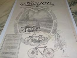 ANCIENNE PUBLICITE MOTOCYCLETTE LEGERE  ALCYON  1924 - Motor Bikes