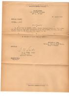 B7  12 08 1944 Lettre 4e Division Infanterie US APO 4 Affectation D'un Officier Français   Confidentiel... - Marcophilie (Lettres)