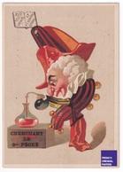 Romanet - Chromo Calendrier 1879 Sept Péchés Capitaux 8ème Comédien Arlequin Commedia Dell'arte Chimie Science A34-71 - Kalender