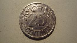 MONNAIE ESPAGNE 25 CENTIMOS 1925 CARABA - Provincial Currencies