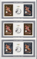 Guyana MNH Gold And Silver Foil Stamps In 3 Different SSs - Ete 1992: Barcelone