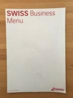 SWISS Business Menu - Menu Kaarten