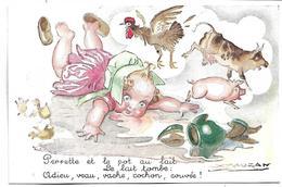 Perrette Et Le Pot Au Lait - Illustrateur MAUZAN - Mauzan, L.A.