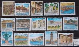 GRECE / YT 1740B - 1754B / MONUMENT - ARCHITECTURE - PHARE - LAC - SCULPTURE - MARCHE - HORLOGE / NEUFS ** / MNH - Griechenland