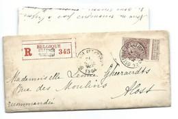 Cover 1904 Nr 61 Aangetekend Recommandé Oostende Aalst - Ganzsachen