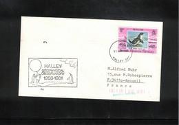British Antarctic Territory 1981 Halley Bay Geophysical Observatory Interesting Cover - Brieven En Documenten