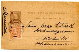 Carte Postale De Horta (juin 1900) Pour Berlin - Horta