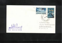 Australian Antarctic Territory 1980 Davis Base Ship MS Nella Dan Interesting Cover - Brieven En Documenten