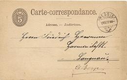 Schweiz, 9.8.1877 Postkarte, Weggis Nach Langnau Reiden, Zerg AK. Siehe Scans! - 1862-1881 Sitted Helvetia (perforates)