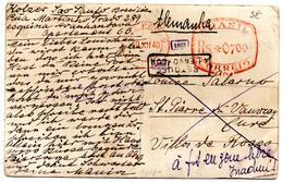 Carte Postale De Sao Paulo (20.12.1940) Pour Saint Pierre De Vouvray Cure Roses à Fs Zone Libre Inadmis Retour - Brésil