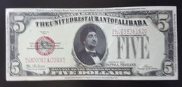 RS - The United Restaurant Of Alibaba 5 Dollars Fantasy Banknote 2011 TANDOORI & CURRY - USA