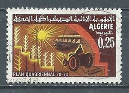 Algérie YT N°506 Plan Quadriennal Oblitéré ° - Algeria (1962-...)