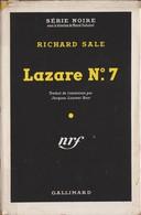 Richard SALE Lazare N°7 Série Noire N°48 (EO, 1950, Jaquette De 51) - Série Noire