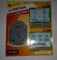 Billet De Loterie Instantanée, Símbolos De Portugal. Portugal - Billets De Loterie