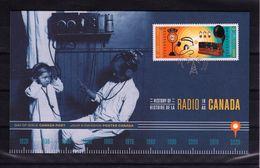 2020 Canada Radio Microphone Headphones Lamps Centenary FDC - Omslagen Van De Eerste Dagen (FDC)