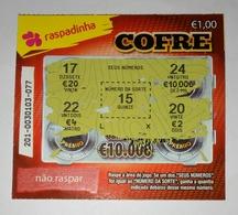 Billet De Loterie Instantanée, Cofre. Portugal - Billets De Loterie