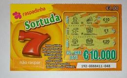 Billet De Loterie Instantanée, Sortuda. Portugal - Billets De Loterie