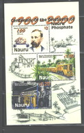 "NAURU 2000 ""TRAINS""  M.S. #479a   MNH - Nauru"
