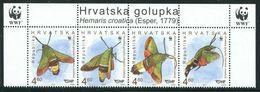 Croatia 2012 MiNr. 1049 - 1052  Kroatien Insects Butterflies Moth WWF Hemaris Croatica 4v MNH** 5.00 € - W.W.F.