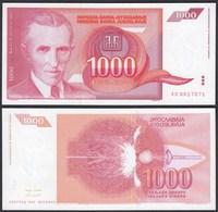 JUGOSLAWIEN - YUGOSLAVIA 1000 Dinara 1992 UNC (1) Pick 114   (24209 - Jugoslavia