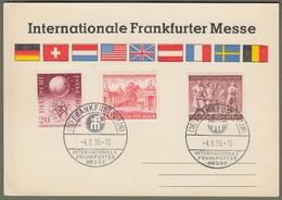 """Bund Berlin: Sonderkarte, Mi.-Nr. 214 U. Berlin 116 U. 125 SST: """" Internationale Frankfurter Messe 1955 """"     X - Used Stamps"""