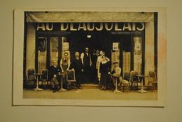 """75 Paris ?? Rue Taitbout 58-72 ? Carte Photo Cafe """" Au Beaujolais """" Devanture - Pubs, Hotels, Restaurants"""