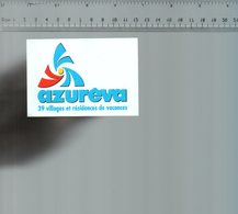 REF 6  : Autocollant Publicitaire Sticker AZUREVA - Autocollants