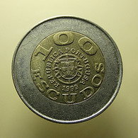 Portugal 100 Escudos 1999 Unicef With Error ''Portugusa'' - Portugal