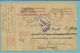 Kaart Stempel ST-AMANDS (ANTW.) Op 24/10/1916 Naar HARDERWIJK, Met Stempel VALKENBURG - Weltkrieg 1914-18