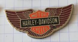 Pin's  -  HARLEY-DAVIDSON Motor Cycles - ( Fond Argenté ) - Motorfietsen
